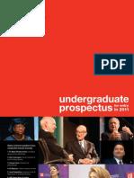 Undergraduate Prospectus 2011