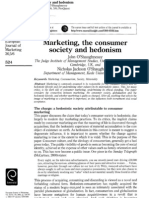 2002 - Marketing, The Consumer Society and Hedonism