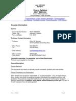UT Dallas Syllabus for acct6351.0g1.11f taught by Arthur Agulnek (axa022000)