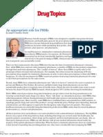 An Appropriate Role for PBMs - Drug Topics - By Joseph Harmison, PharmD (5/5/10)