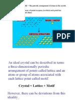 Crystals Unit 01 Ppt