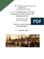 Nat Lang Conference 2010 - Report (TTM)