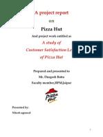 Report on Pizza Hut Final