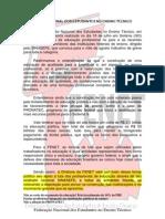 Fenet_sinasefe Carta de Apoio