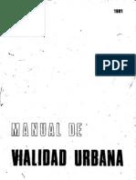 Manual de Vialidad Urbana-Mindur 1981