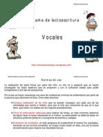lectoescritura VOCALES 80 fichas