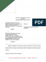 WESTCHESTER FIRE INSURANCE COMPANY et al v. THE SHAW GROUP, INC. et al Complaint