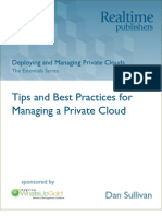 Deploying and Managing Private Cloud - Article 2 - Tips and Best Practices for Managing a Private Cloud