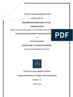 Report of Organization Study at Kerafibertex International Pvt. Ltd