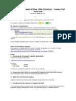 Instructivo Para Actualizar Capataz - Cambio de Version