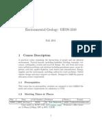 UT Dallas Syllabus for geos3310.001.11f taught by Thomas Brikowski (brikowi)