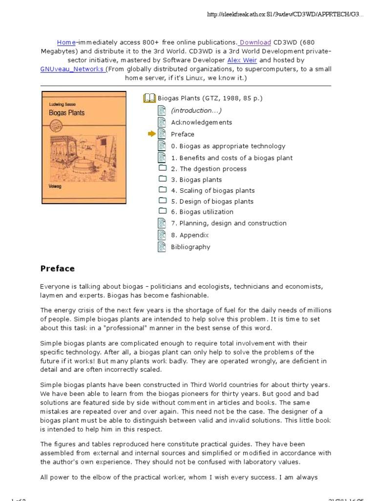 Ludwig Sasse Biogas Plants Anaerobic Digestion Plant Diagram Advantages Digester Generation Of