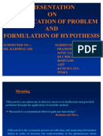 Ppt on Problem Identification and Hypothesis (1)