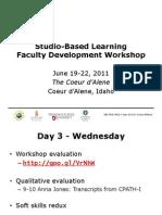 SBL - Day 3 Agenda