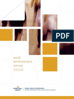 Work Environment Survey Results 07 08