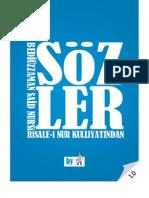 Sözler - Risale-i Nur Külliyatı - Ebook Reader için Pdf 800x600