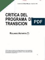 Crítica del Programa de Transición [Rolando Astarita]