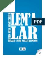Lemalar - Risale-i Nur Külliyatı - Ebook Reader için Pdf 800x600
