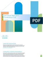 Cisco Q4 and FY11 Earnings Slides