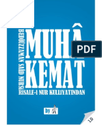 Muhakemat - Risale-i Nur Külliyatı - Ebook Reader için Pdf 800x600