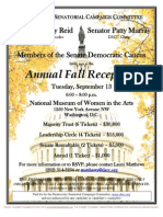 Annual Fall Reception