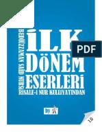 İlk Dönem Eserleri  - Risale-i Nur Külliyatı - Ebook Reader için Pdf 800x600