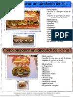 Como Hacer Sandwiches de 30cm y 15cm