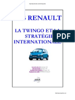 Cas Renault, La Twingo Et La Strategie Internationale