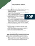 Derechos y obligaciones del patrón