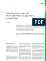CIF Clasificacion Internacional de Las Deficiencias des y Minusvalias