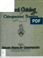 Chiro Supply Catalog PSC 1922