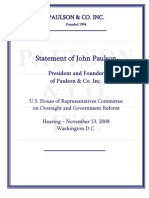 Statement of John Paulson