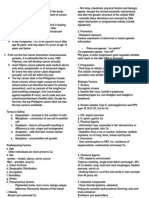 Oncology Handouts