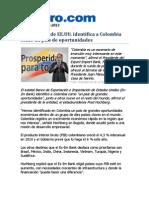 Identificada Colombia como País de Oportunidades - Banco Ex-Im de EEUU