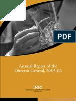 IRRI Annual Report 2005-2006