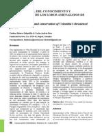ESTADO ACTUAL DEL CONOCIMIENTO Y CONSERVACIÓN DE LOS LOROS AMENAZADOS DE COLOMBIA