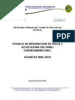 01.1 Informe Sobre La Politica de Integracion de Pesca y Acuicultura Del Istmo no