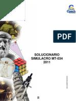 Solucionario Simulacro MT-034 2011 OK