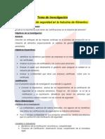 Resumen Ejecutivo Certificaciones de seguridad en la Industria de Alimentos