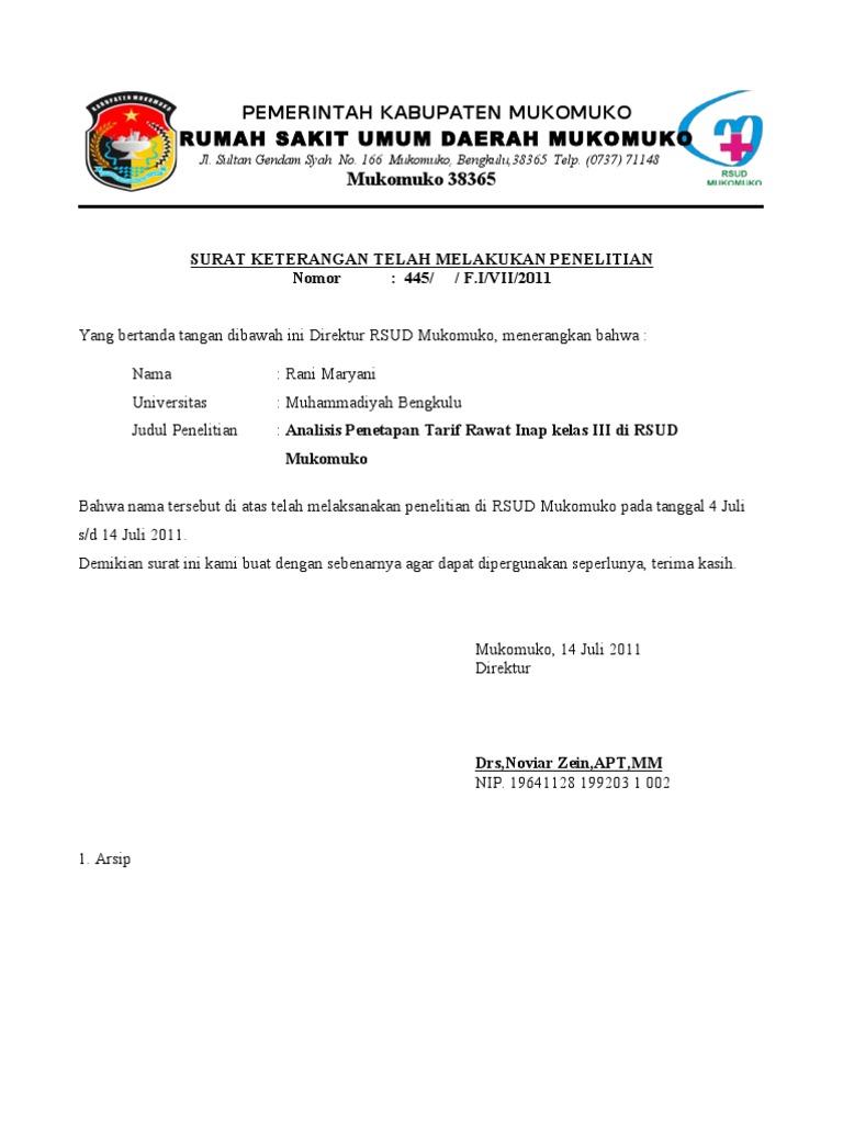Contoh Surat Keterangan Observasi Dari Perusahaan Kumpulan