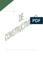 DE CONSTRUCTIVISMO