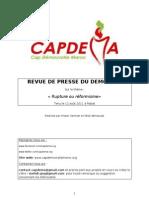 """Revue de presse - Démocafé Rabat """"Rupture ou réformisme"""""""
