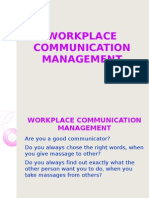 Workplace Communication Management-20!01!2011