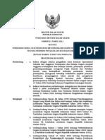 Permendagri No 21 Tahun 2011