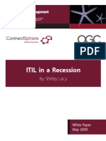 ITIL in Recession White Paper May09