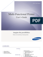 Multi-Functional Printer - Samsung CLX-318x Series