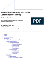 Introduction to Analog and Digital Communication Theory - Rice & Long