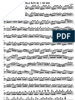 Cello Suite No 1 BWV 1007 transposed for Bass