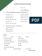 Practice Exercise on Trigonometry p3