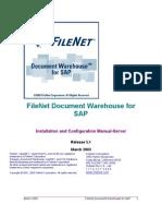 FileNet Document Warehouse for SAP Installation Manual